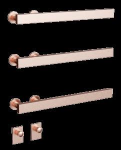 Flux flat in brushed copper